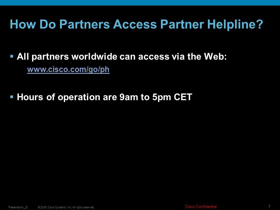 How Do Partners Access Partner Helpline