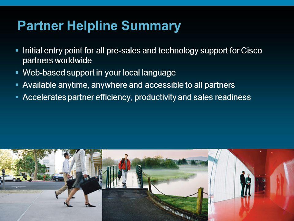 Partner Helpline Summary