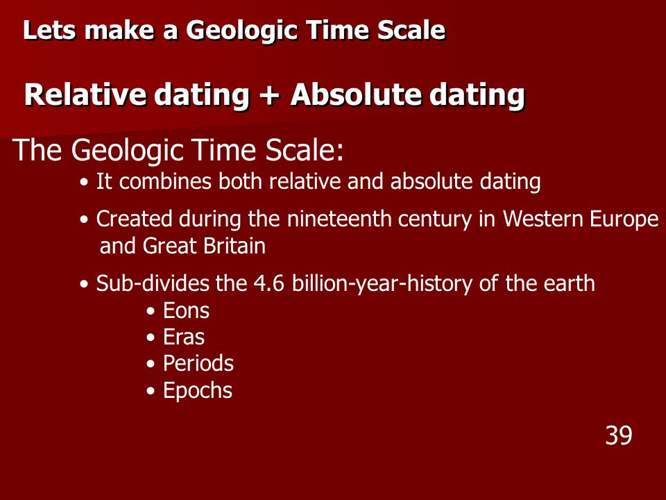 relative age and absolute difference in dating