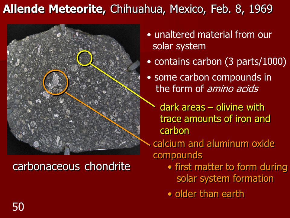 Allende Meteorite, Chihuahua, Mexico, Feb. 8, 1969
