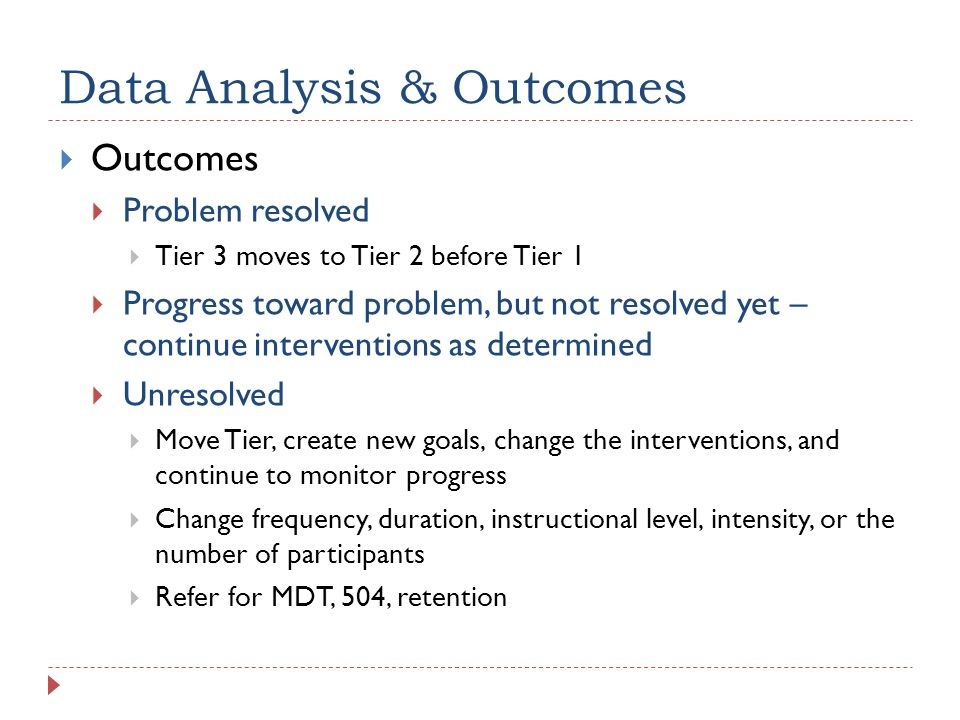 Data Analysis & Outcomes