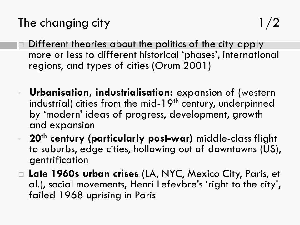 The changing city 1/2