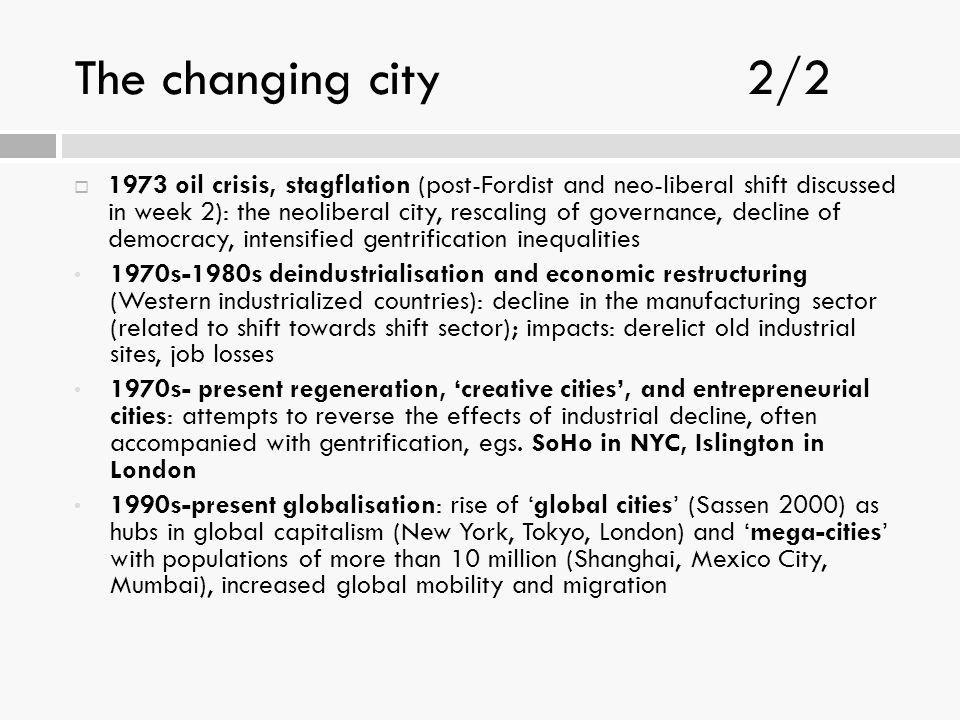 The changing city 2/2