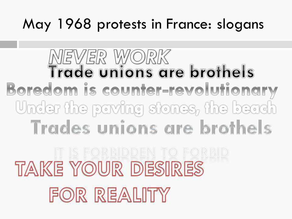 May 1968 protests in France: slogans