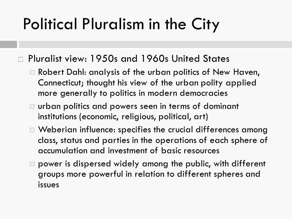 Political Pluralism in the City
