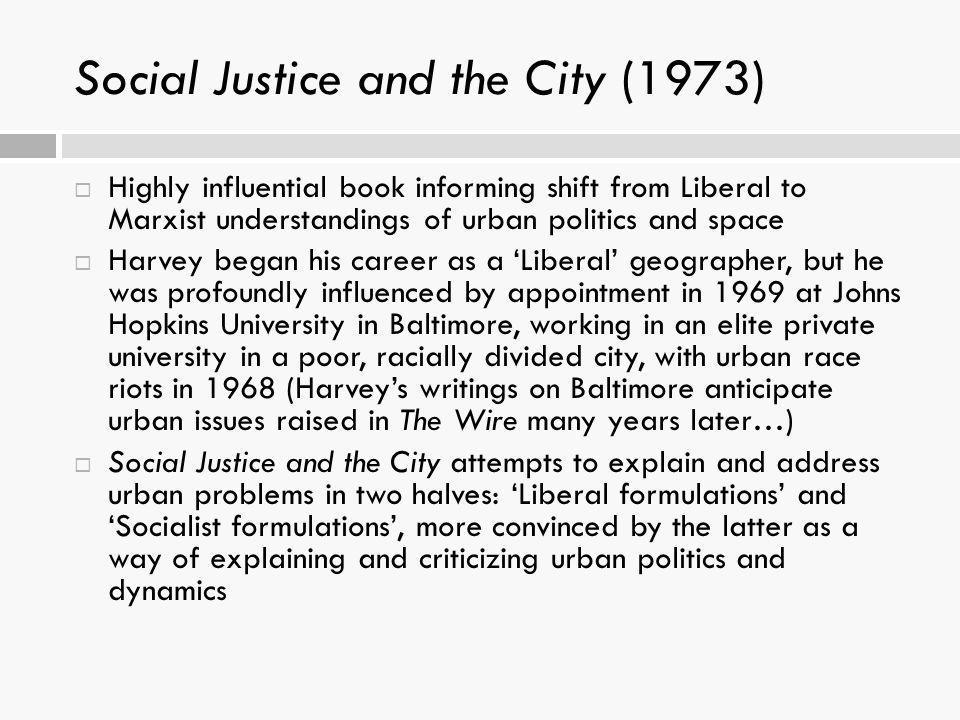 Social Justice and the City (1973)
