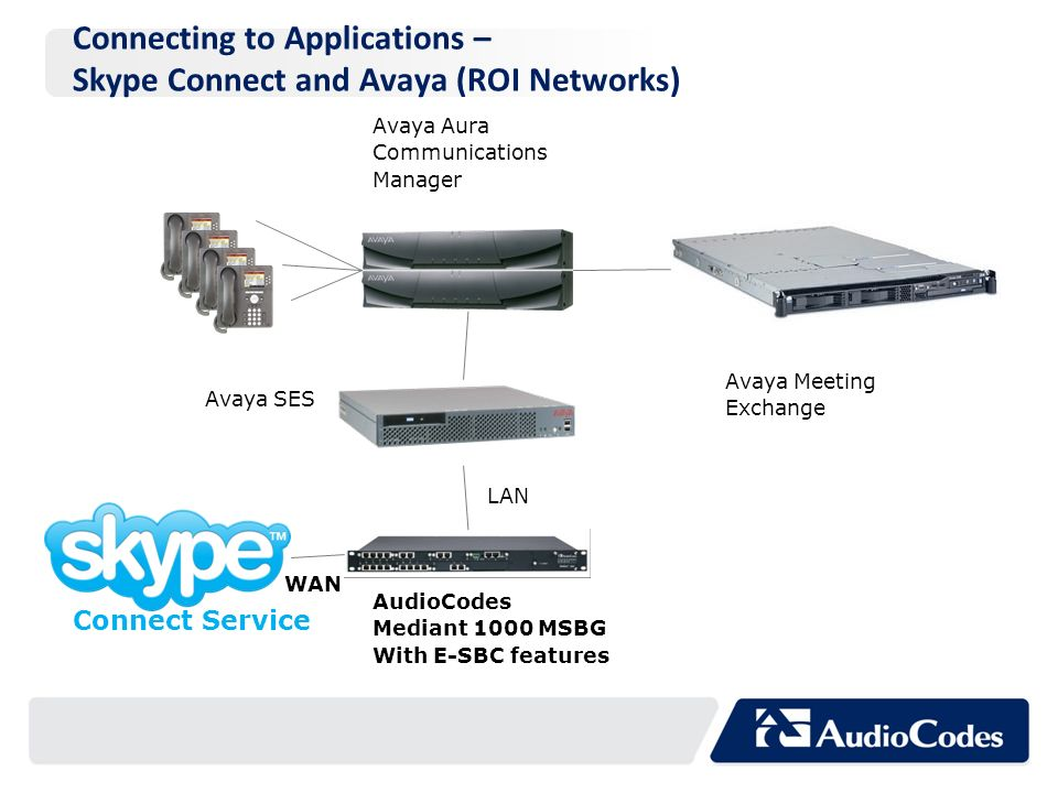 Connecting to Applications – Skype Connect and Avaya (ROI Networks)