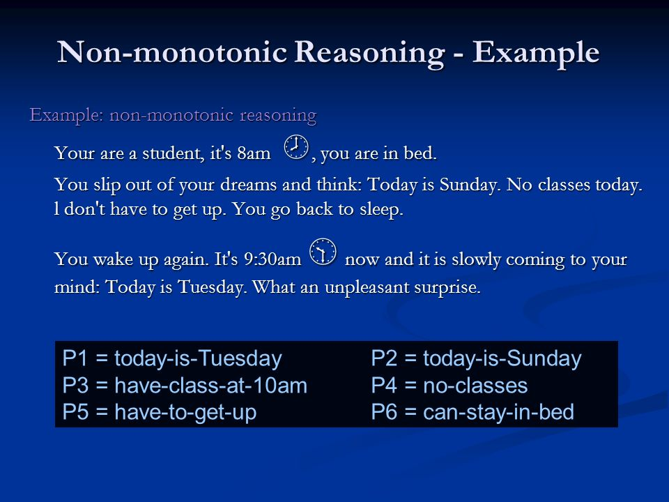 Non-monotonic Reasoning - Example