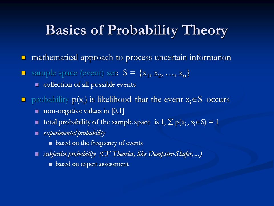 Basics of Probability Theory