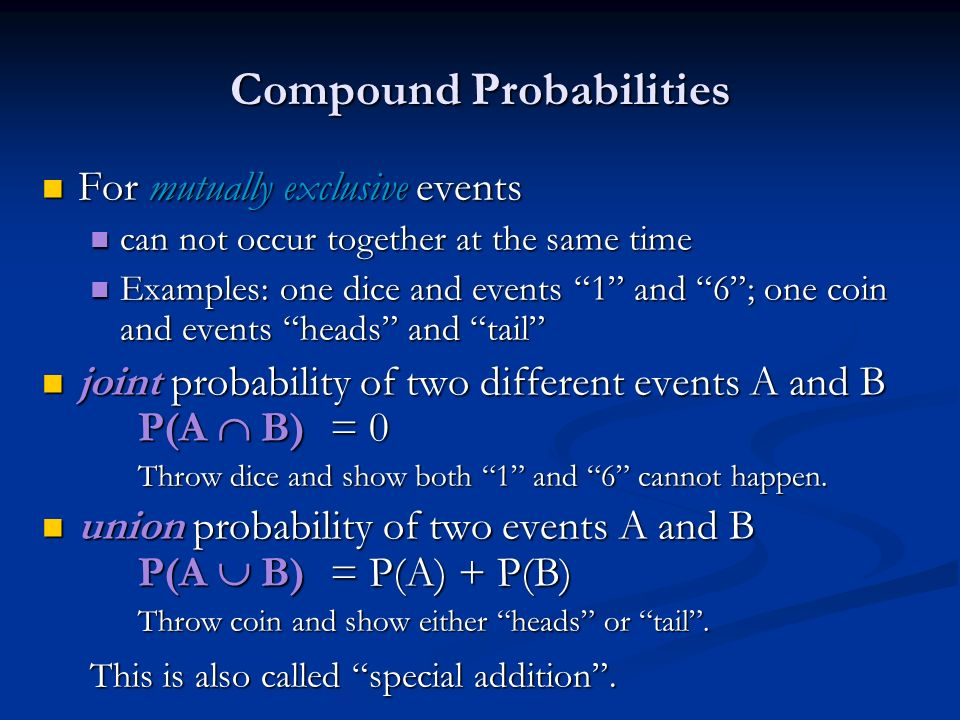 Compound Probabilities