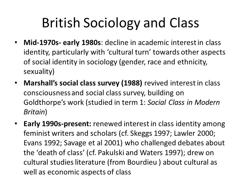 British Sociology and Class