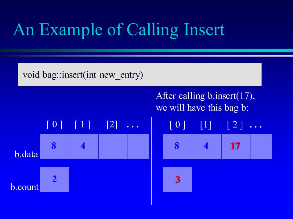 An Example of Calling Insert