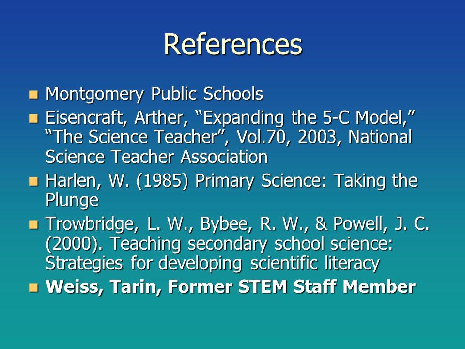 References Montgomery Public Schools