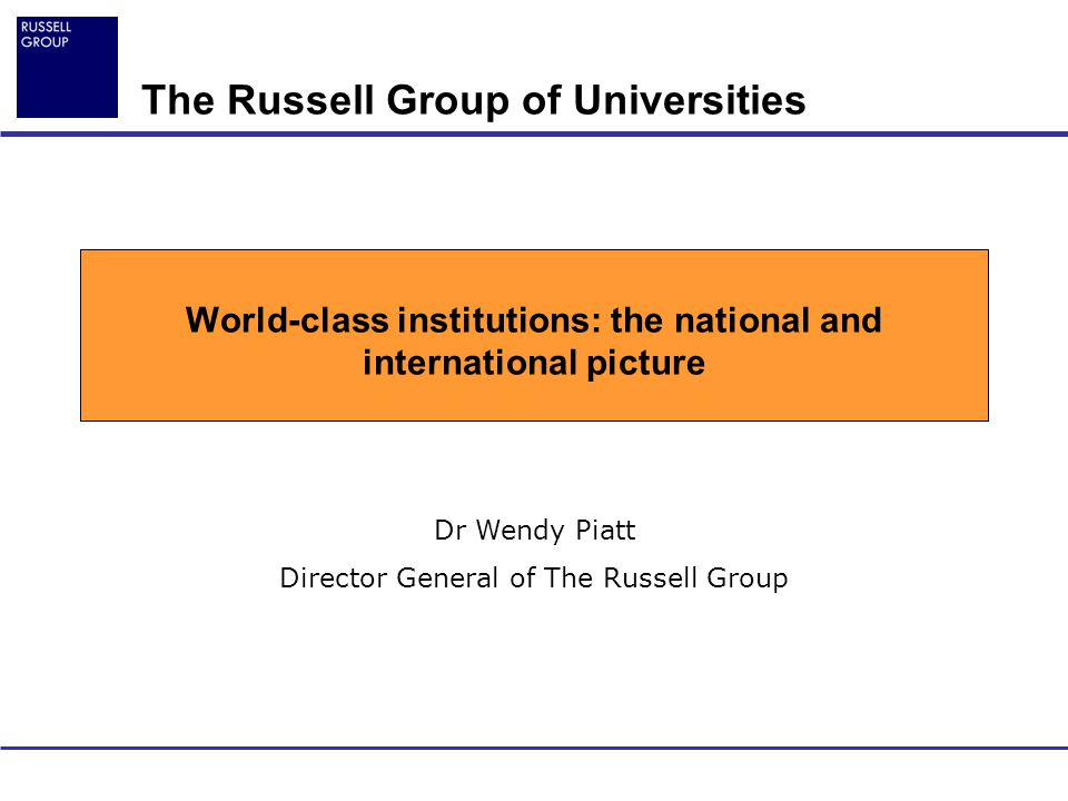 World-class institutions: the national and international picture