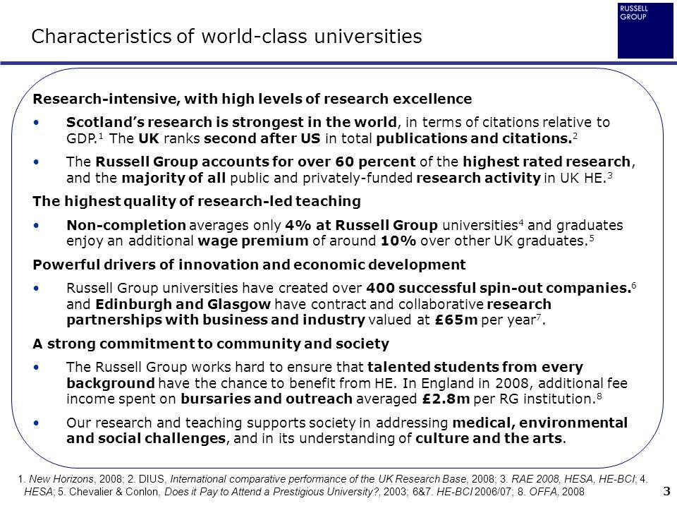 Characteristics of world-class universities