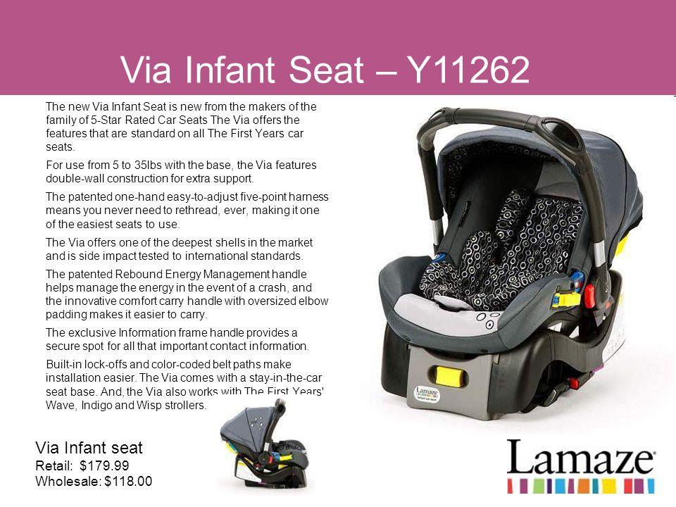 Via Infant Seat – Y11262 Via Infant seat Retail: $179.99