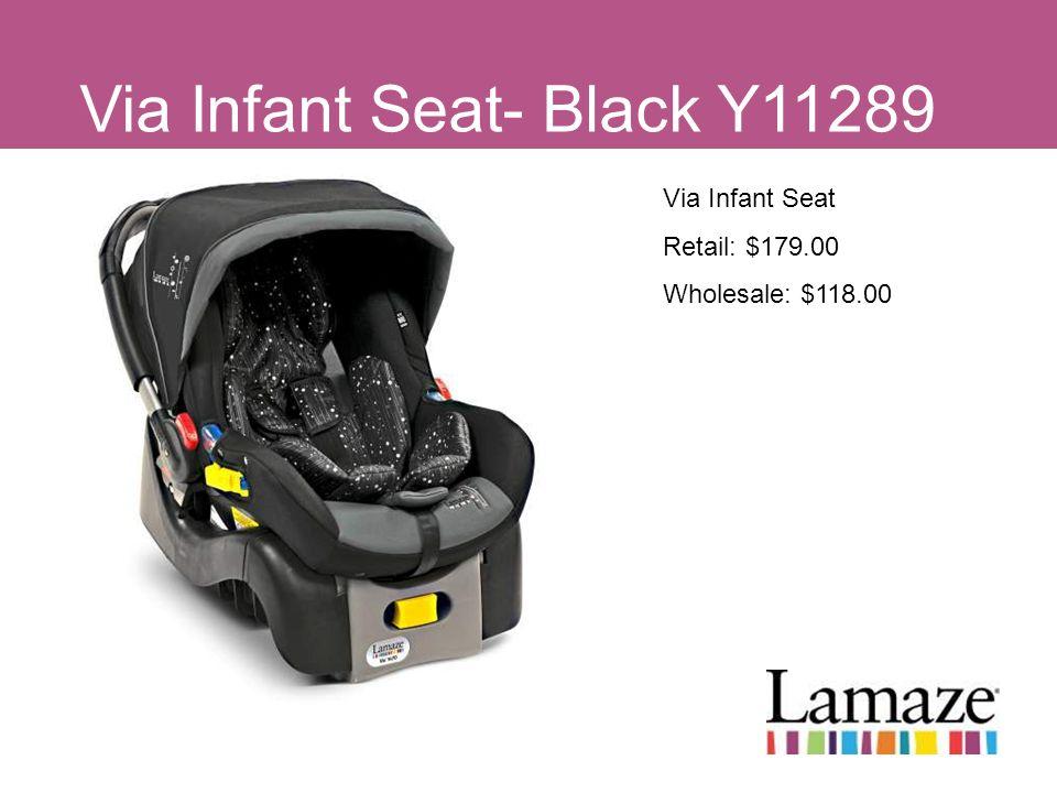 Via Infant Seat- Black Y11289