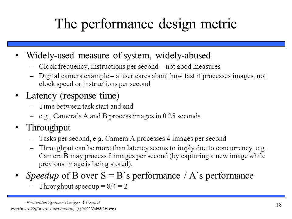 The performance design metric