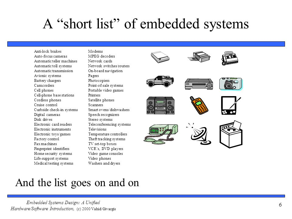 A short list of embedded systems