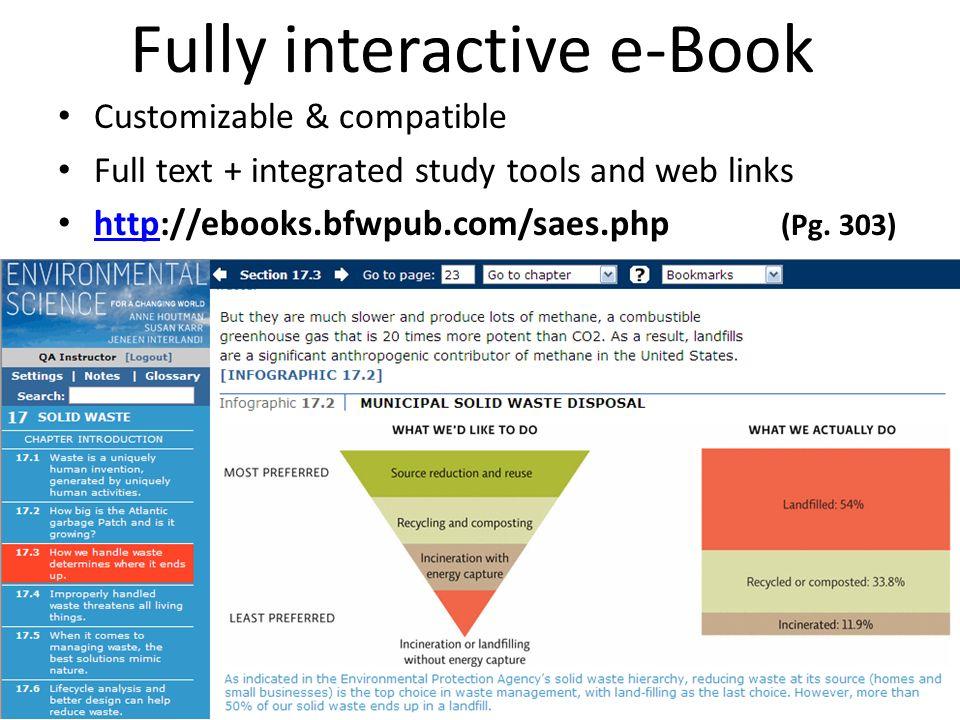 Fully interactive e-Book