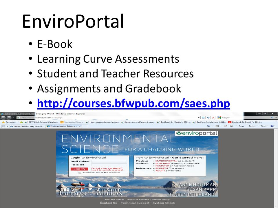 EnviroPortal E-Book Learning Curve Assessments