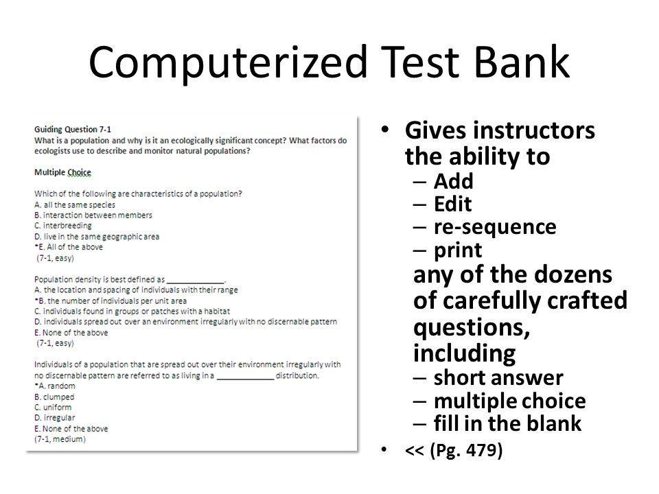 Computerized Test Bank
