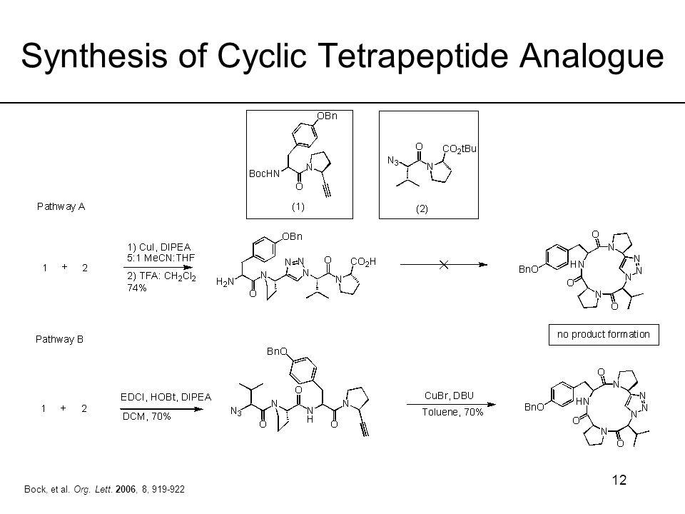Synthesis of Cyclic Tetrapeptide Analogue