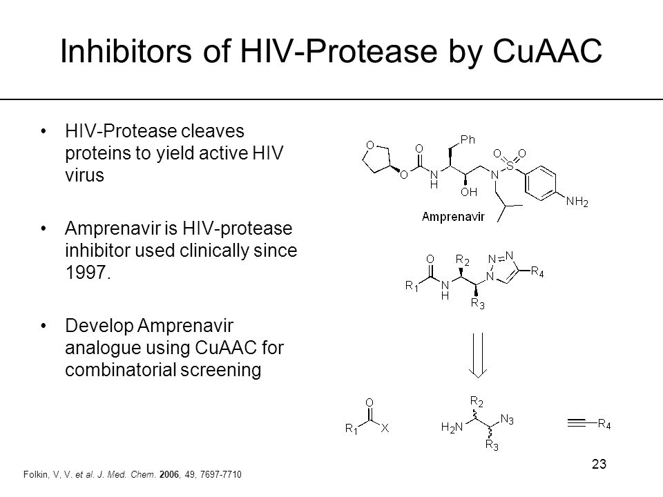 Inhibitors of HIV-Protease by CuAAC