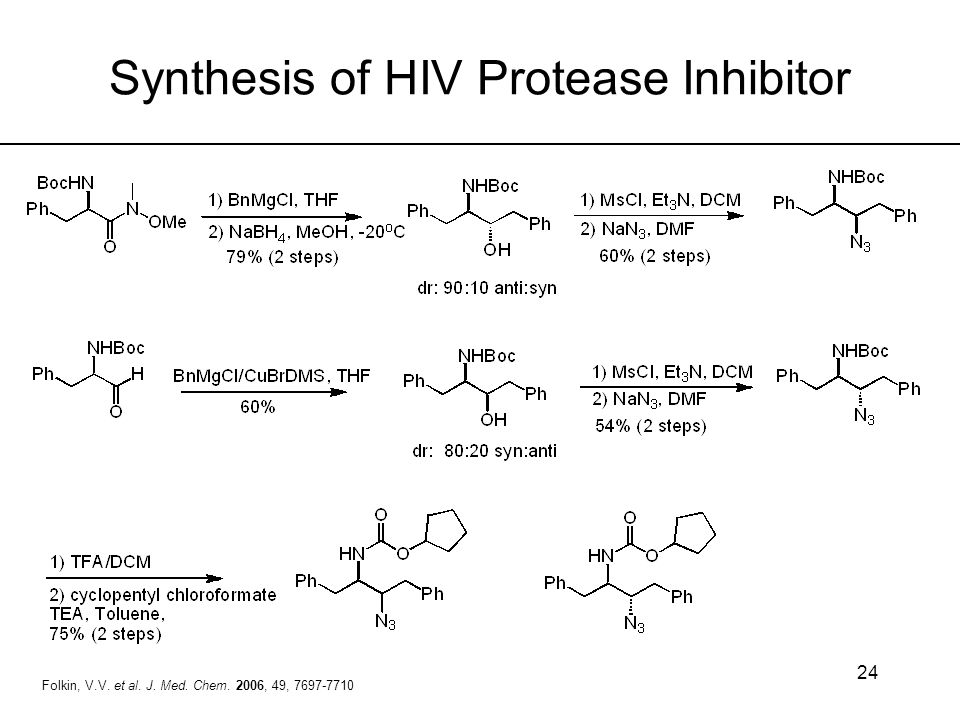 Synthesis of HIV Protease Inhibitor