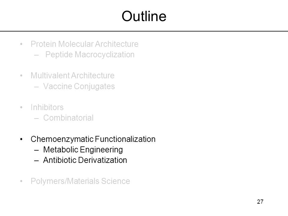 Outline Protein Molecular Architecture Peptide Macrocyclization
