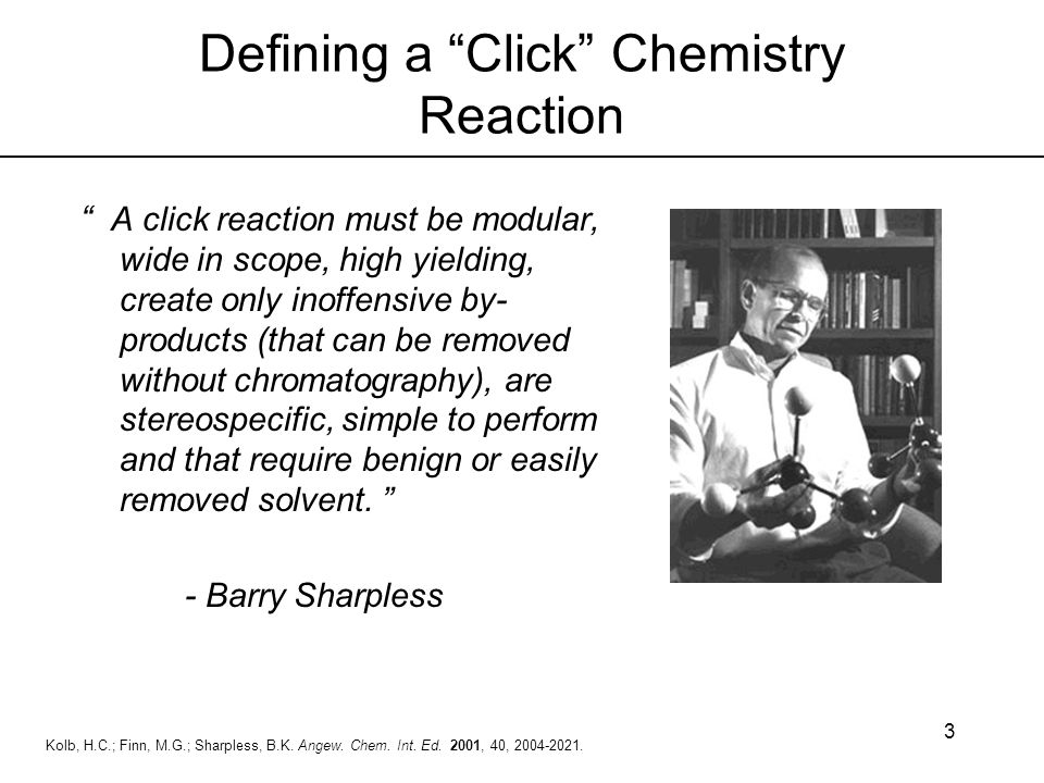 Defining a Click Chemistry Reaction