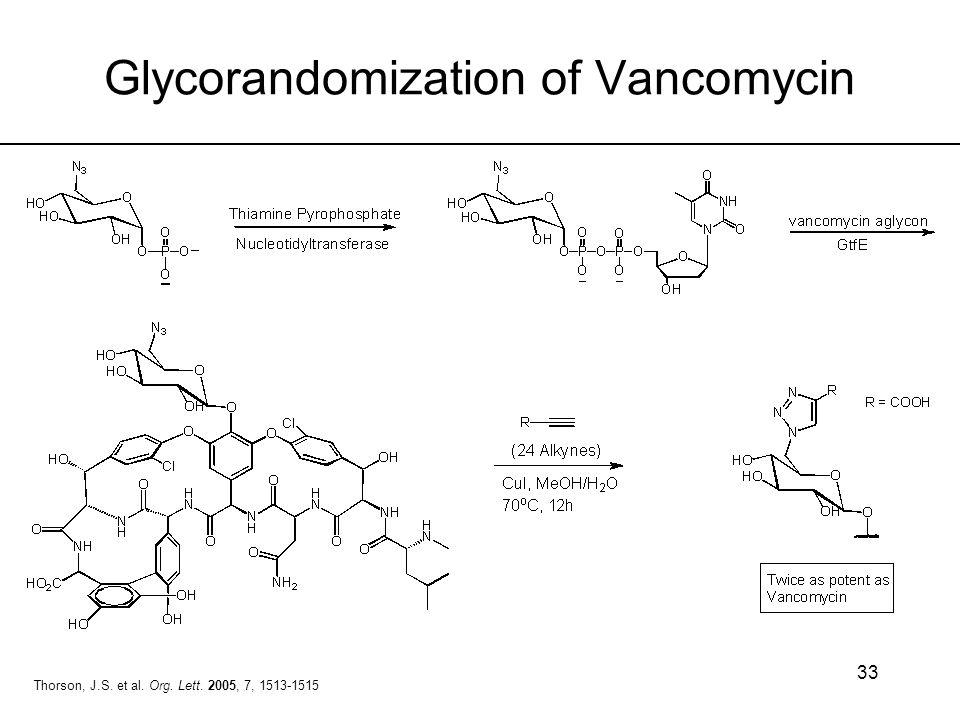 Glycorandomization of Vancomycin