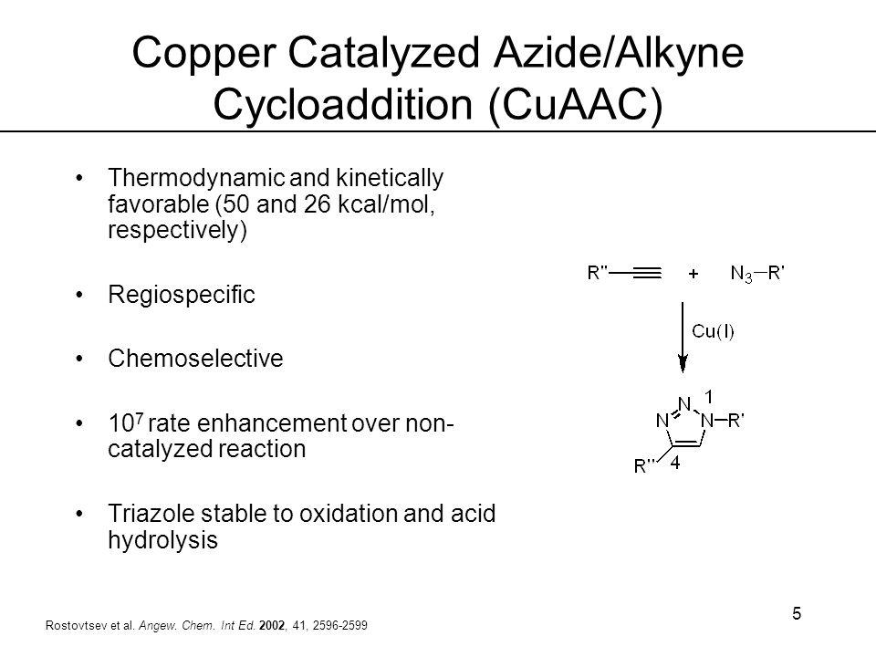 Copper Catalyzed Azide/Alkyne Cycloaddition (CuAAC)