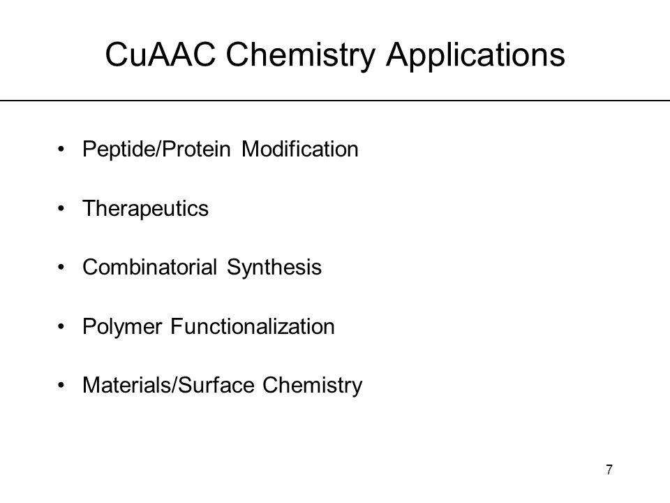 CuAAC Chemistry Applications