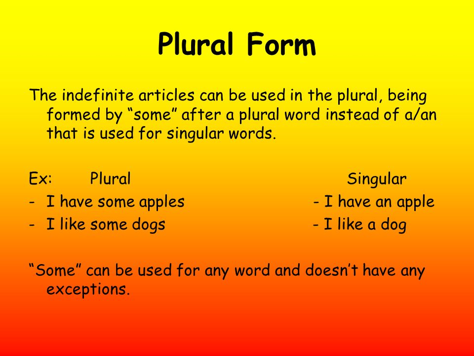 Plural Form