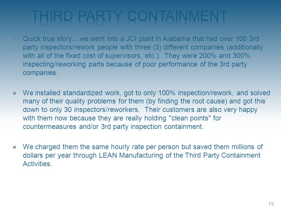 Third Party Containment