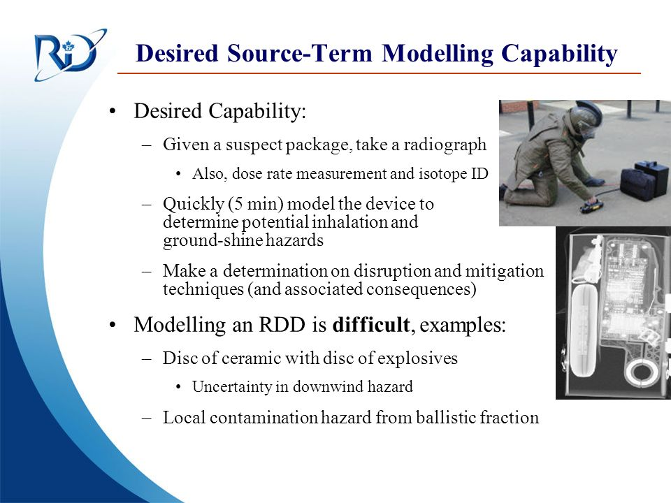 Desired Source-Term Modelling Capability