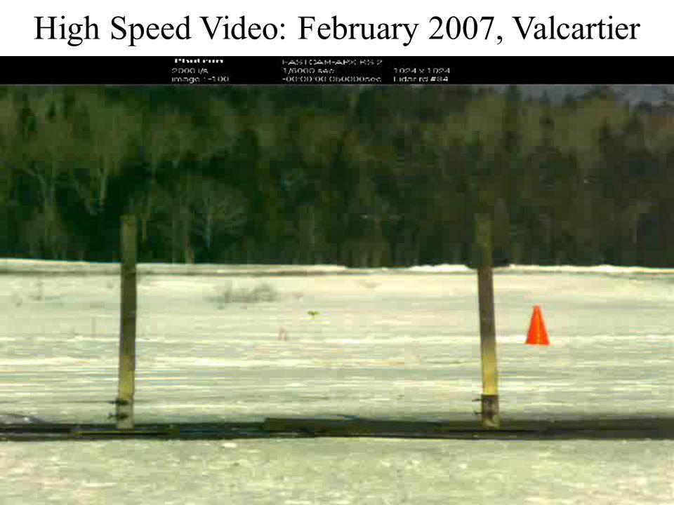 High Speed Video: February 2007, Valcartier