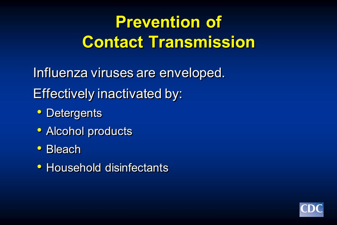 Prevention of Contact Transmission