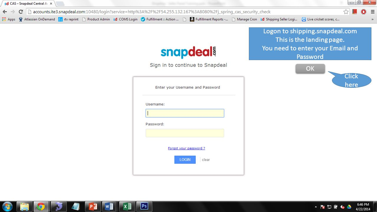 Logon to shipping.snapdeal.com This is the landing page.