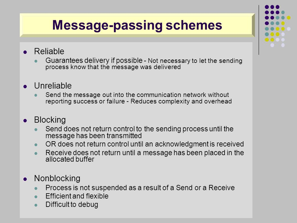Message-passing schemes