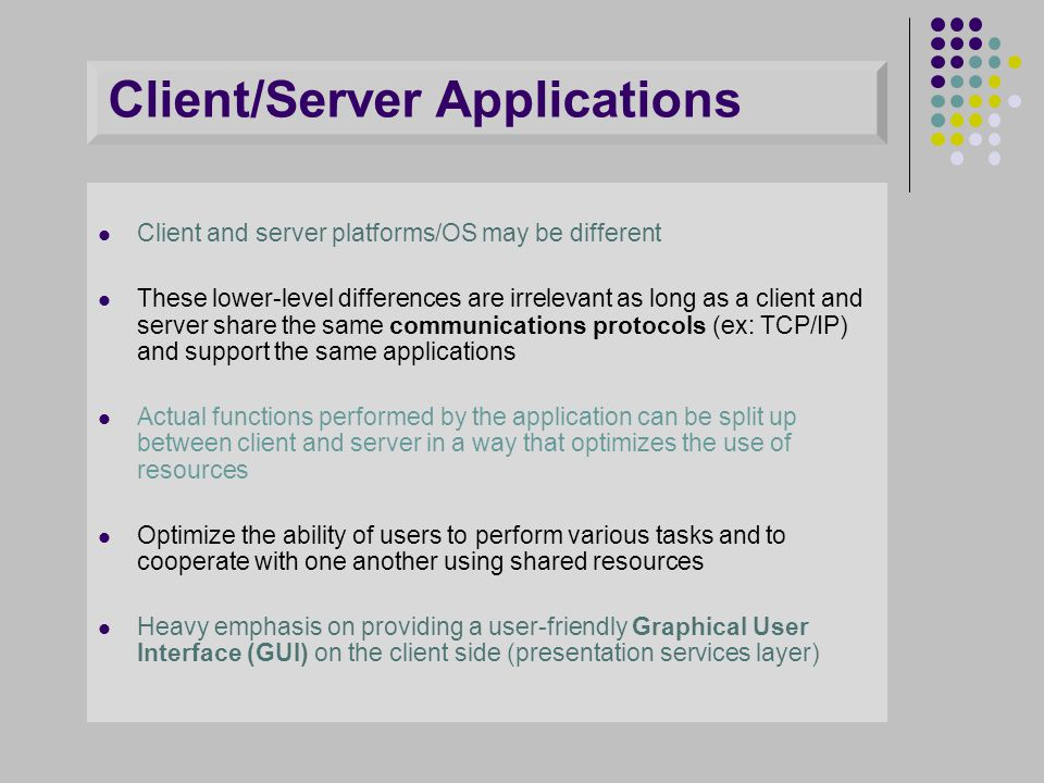 Client/Server Applications