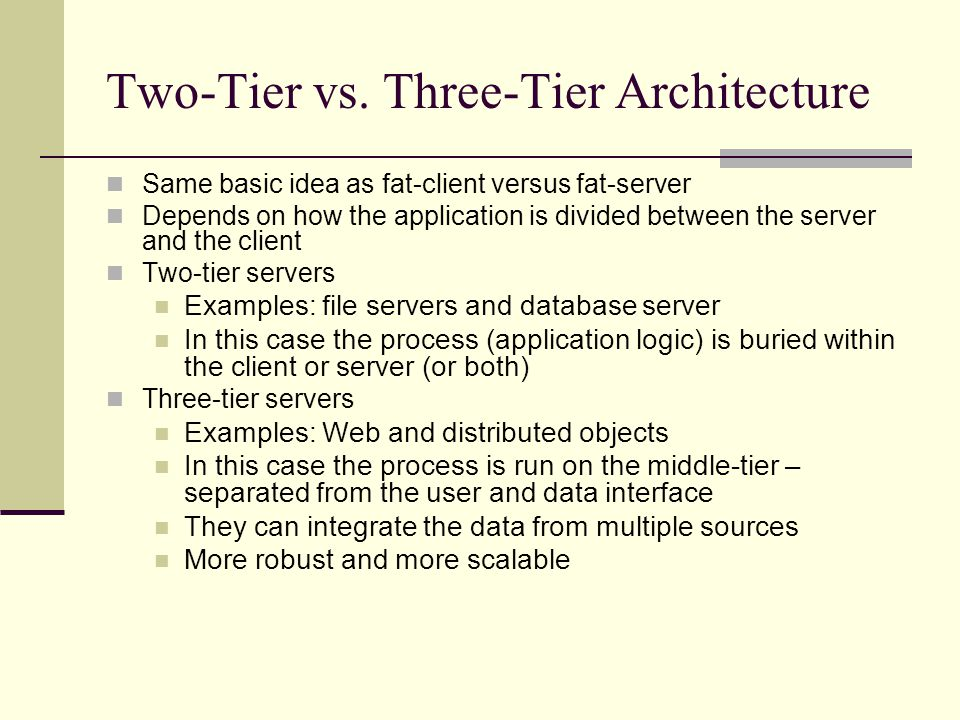 Three Tier Architecture Essay