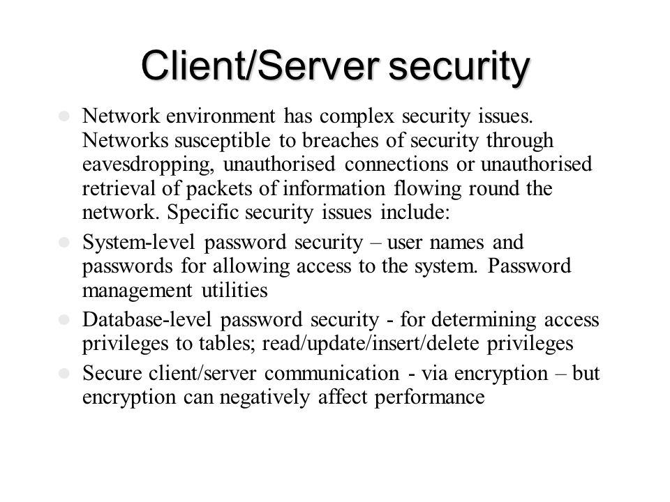 Client/Server security