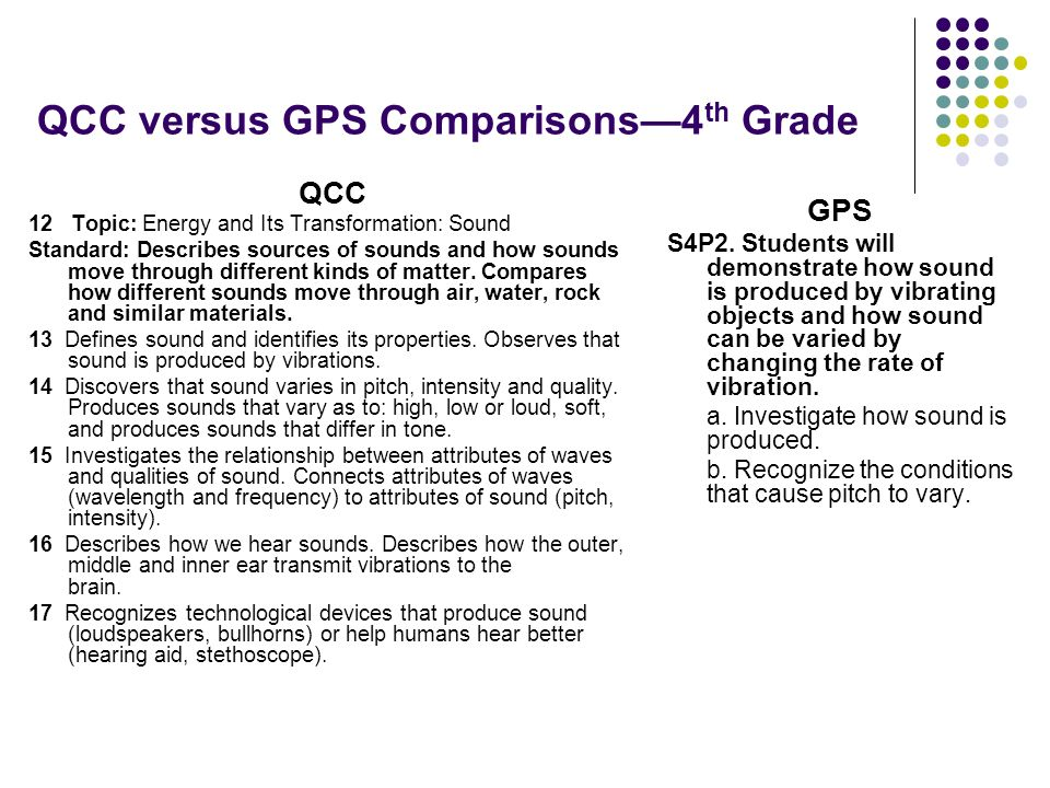 QCC versus GPS Comparisons—4th Grade