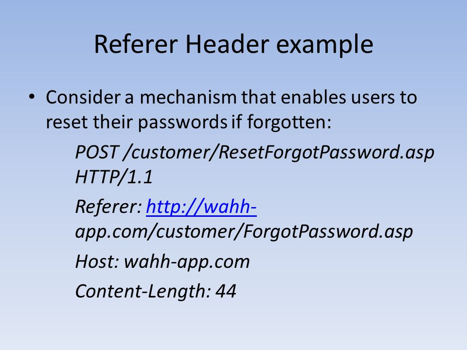 Referer Header example