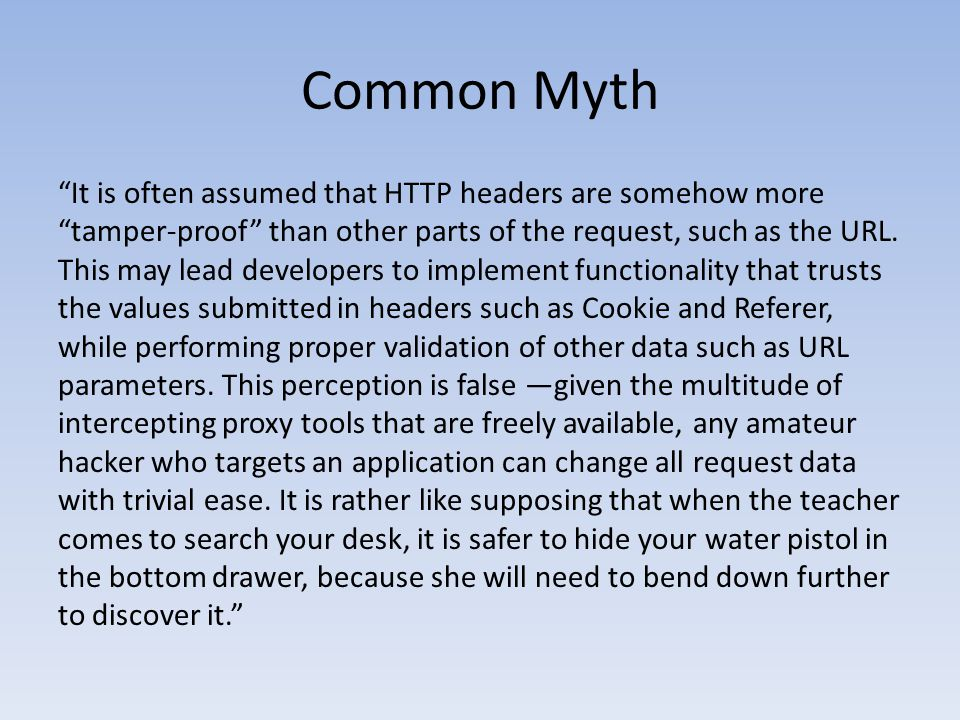 Common Myth