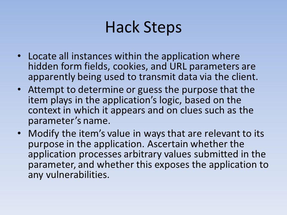 Hack Steps