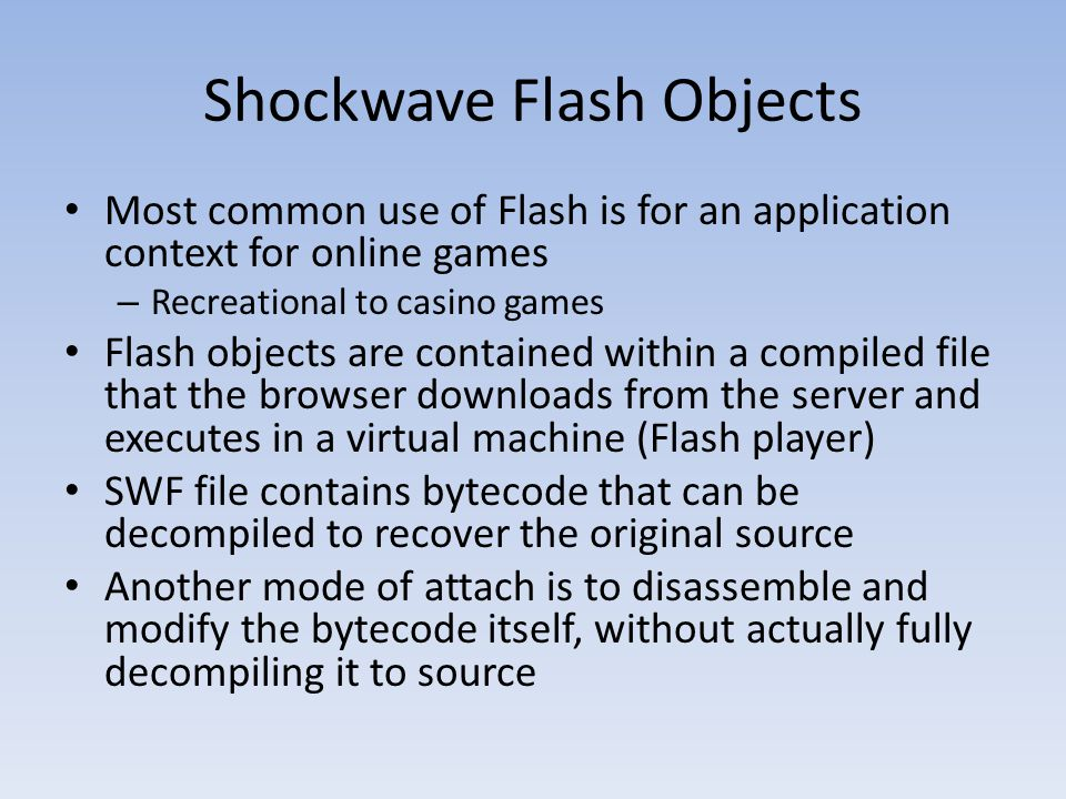 Shockwave Flash Objects