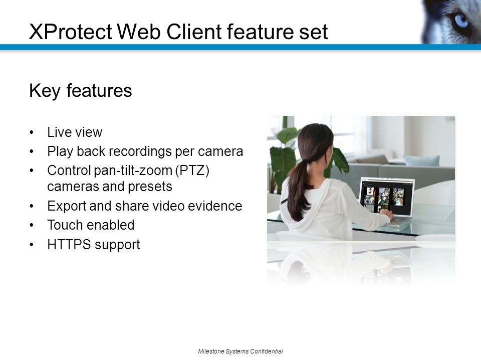 XProtect Web Client feature set